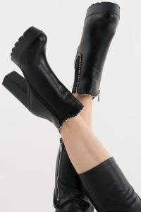 Platform Ankle Boot Faux Leather