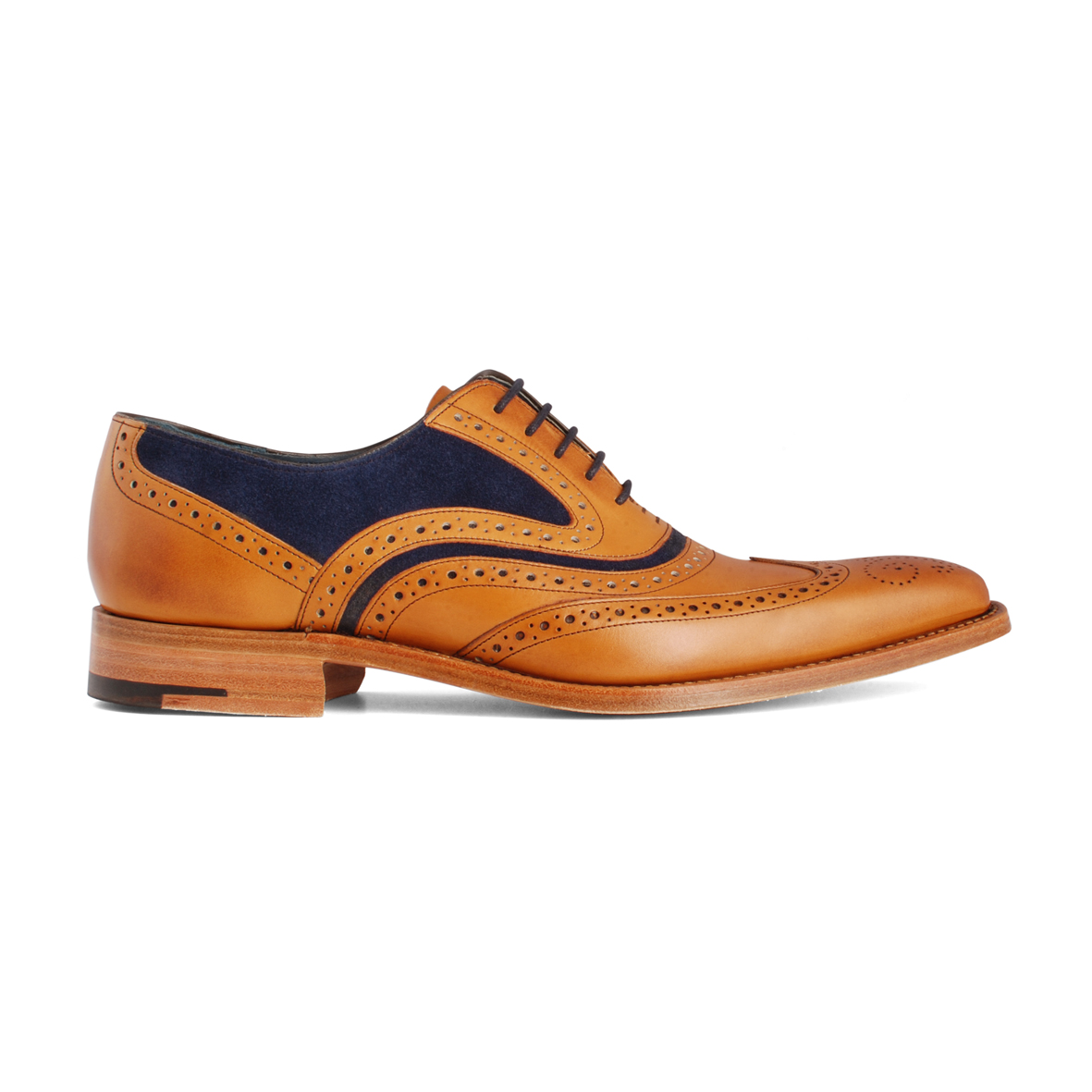 Barker McClean Cedar/Navy Suede shoes