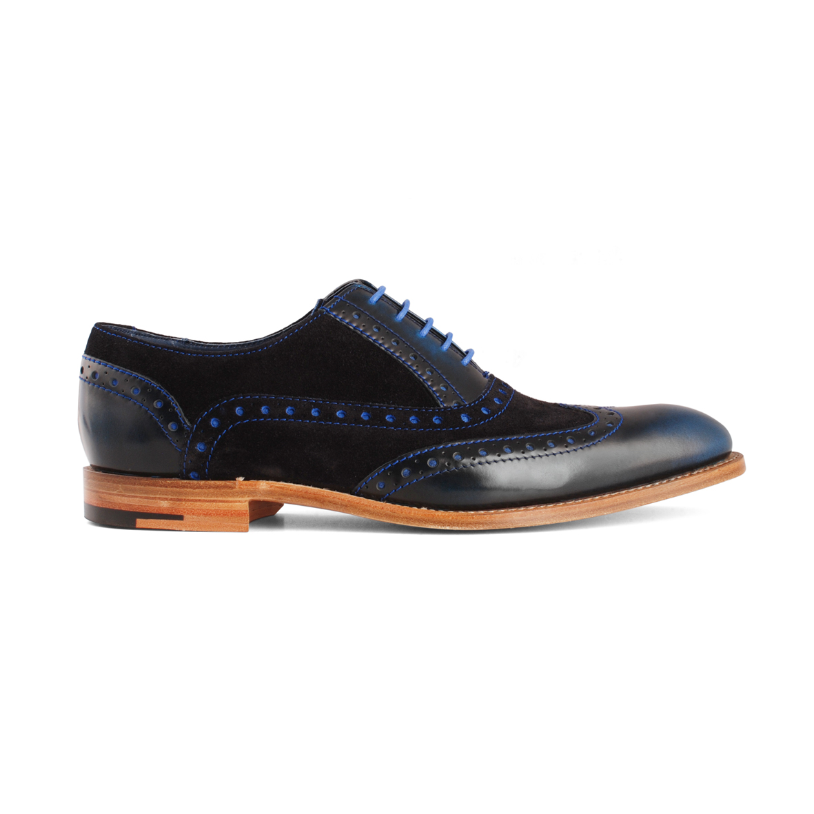 Barker Grant Navy Suede/leather shoes