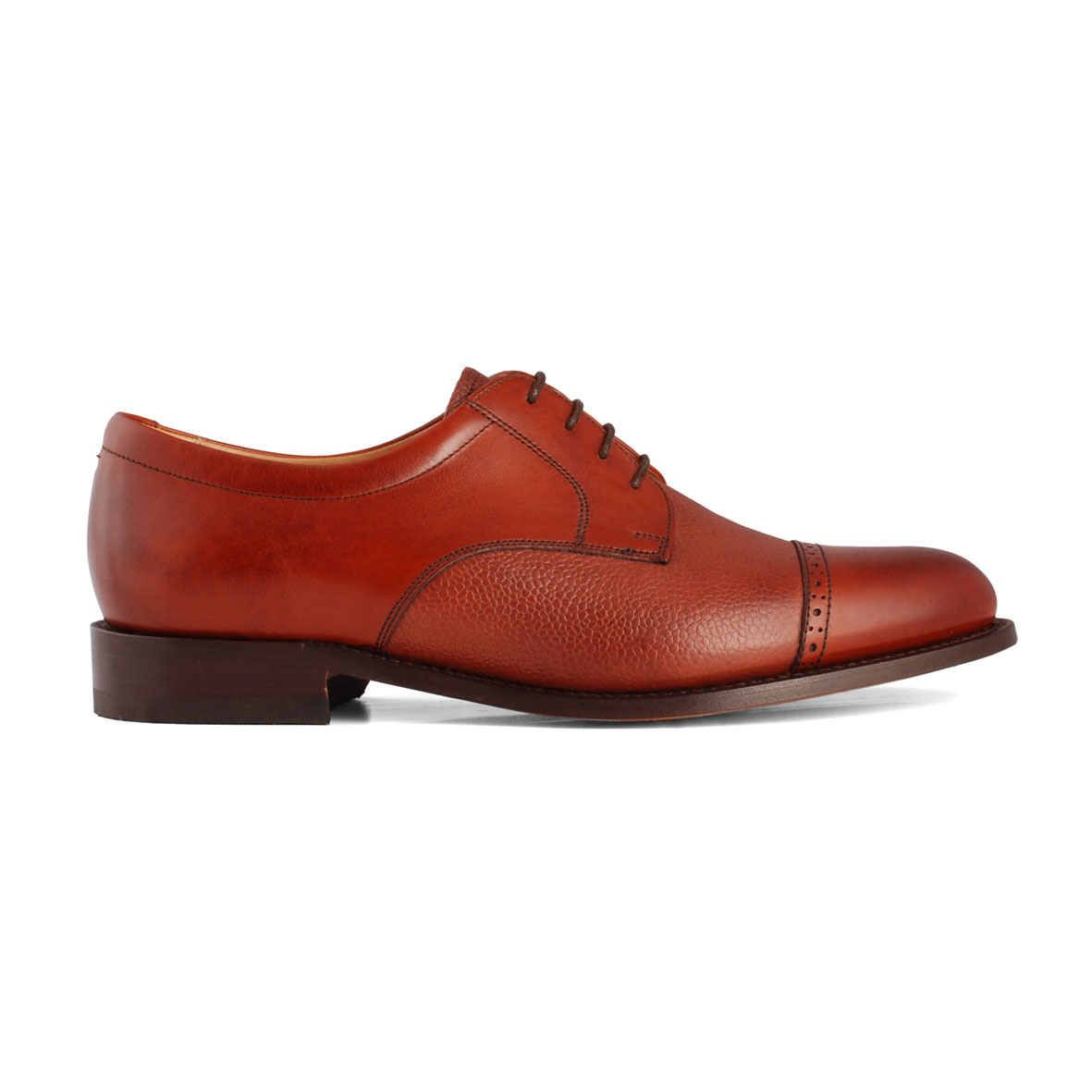 Barker Staines Rosewood Grain shoes