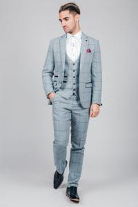 NICOLAS - Sky Check Tweed Three Piece Suit