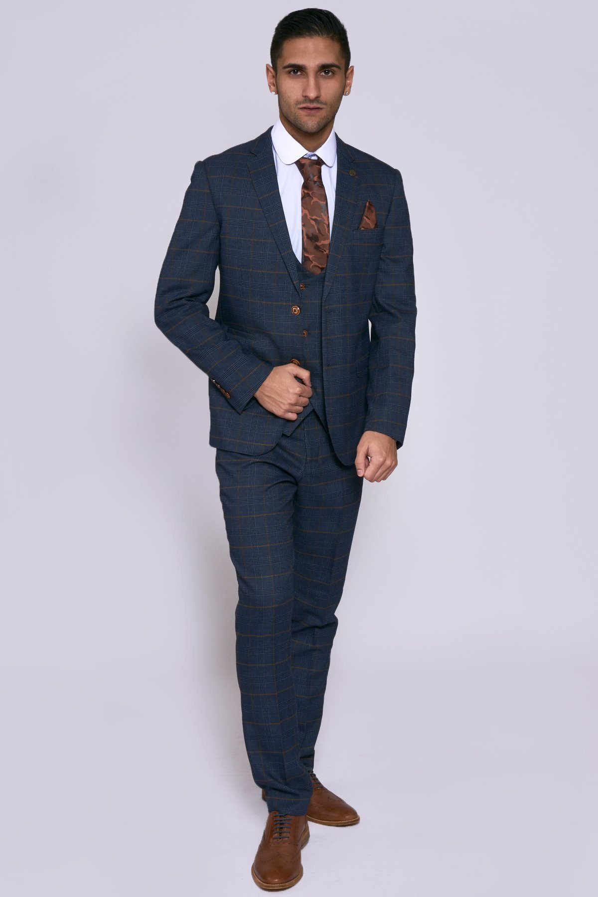 JENSON - Marine Navy Check Suit
