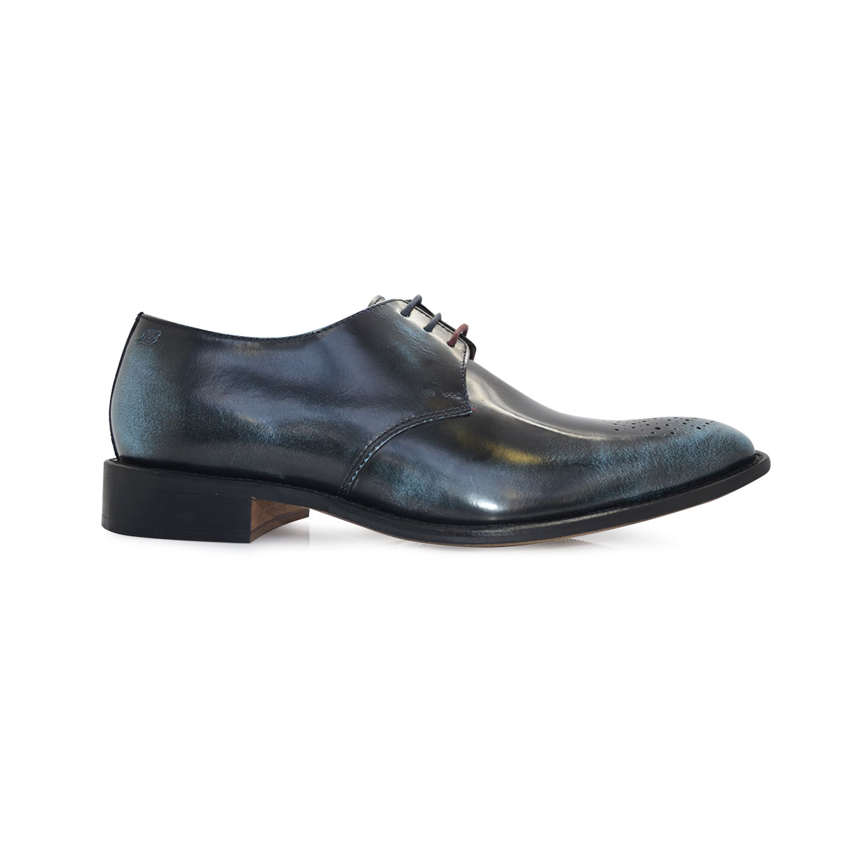 London Brogues Earl Derby Polished Navy