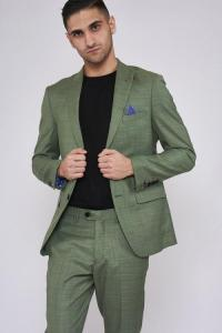 SID - Moss Green Three Piece Check Suit