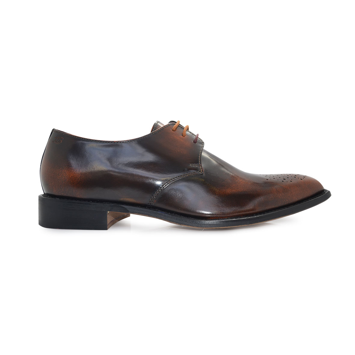 London Brogues Earl Derby Polished Tan