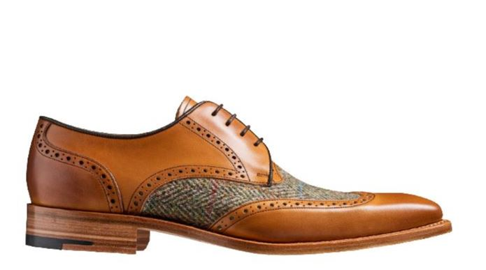 Barker - Jackson - Cedar Calf / Green Tweed